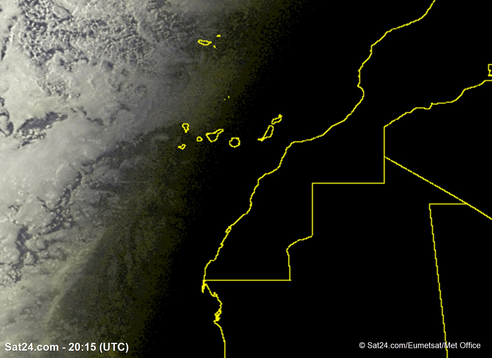 Satelite image of Canary Islands