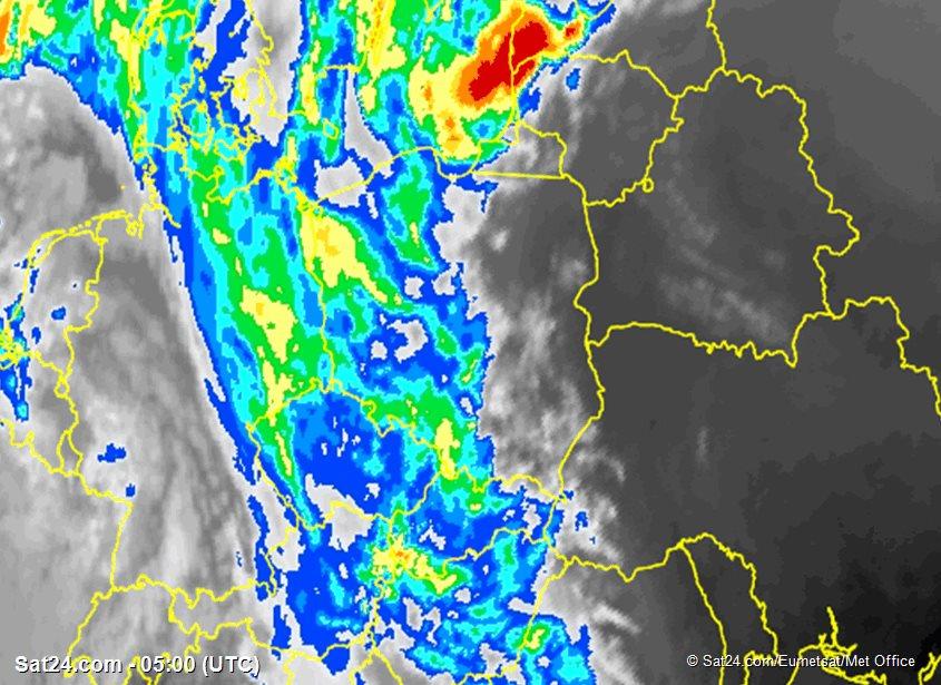 Pogoda Polska: Grubość chmur w kilometrach